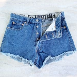 The Laundry Room High Waist Button Fly Shorts